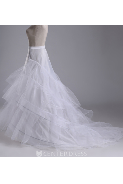8c395ac396 Trailing Wedding Dress Skirt Petticoat with Three Tulle Two-Layer Steel  Ring Trailing Hard Mesh - UCenter Dress