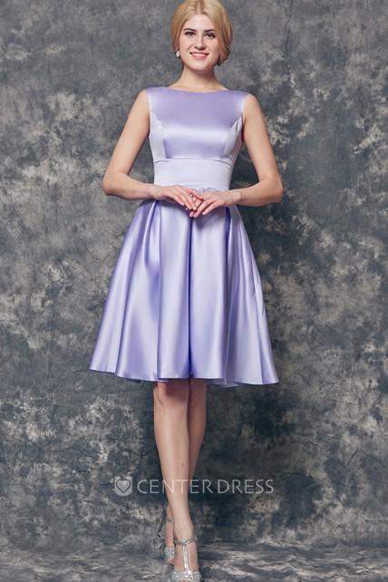 A Line Short Satin Dress
