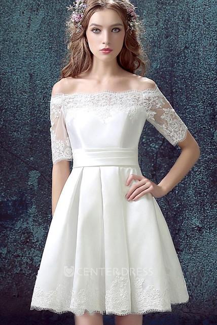 A-Line Short Satin Dress