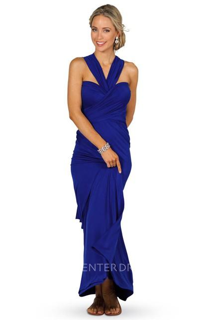 d2008e4621e Criss-Cross Sleeveless Strapped Chiffon Convertible Bridesmaid Dress - UCenter  Dress