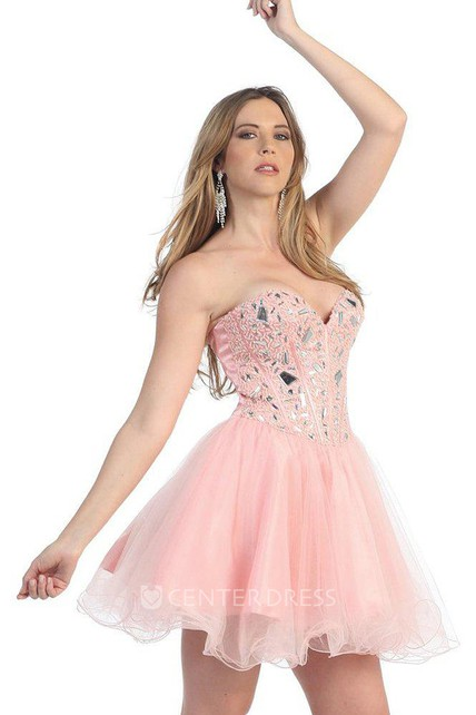Sweetheart a Line Mini Dress