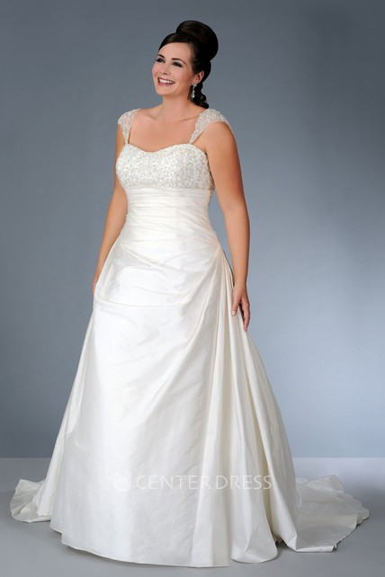 22483f9b6a Strapped Satin Beaded Dress With Corset Back - UCenter Dress