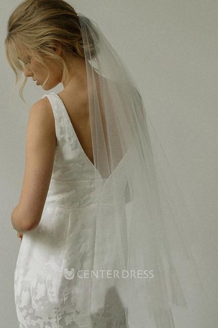 New Bride Veil Short Simple Wedding Headdress For Female Soft
