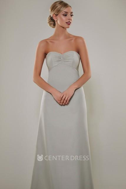 4e40f86458f Sweetheart Sleeveless Empire Ruched Chiffon Bridesmaid Dress - UCenter Dress