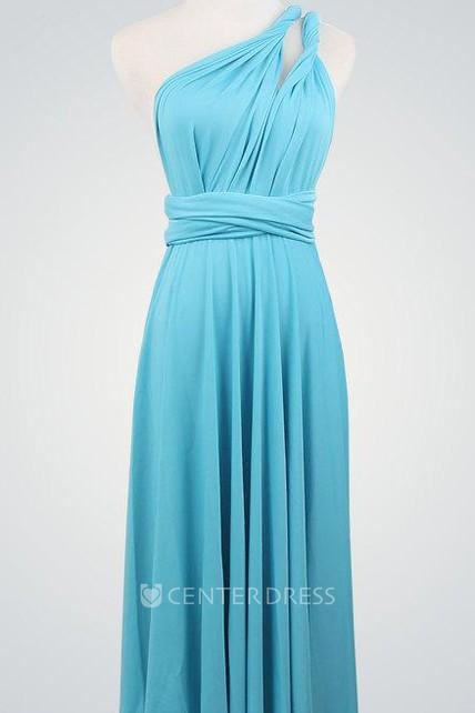 Blue Blue Short Short Wrap Knee Length Blue Infinity Short Bridesmaid Dress  - UCenter Dress 2140d343142f