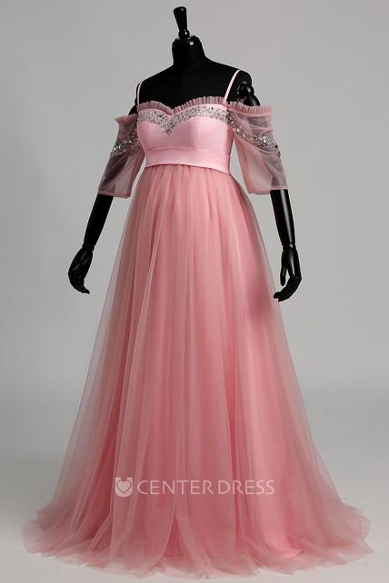 Tulle Maternity Dress