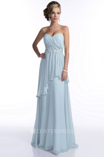106d8cad1a30 Chiffon Sweetheart Pleated Bridesmaid Dress Featuring Two-Layer Skirt -  UCenter Dress