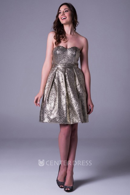 A Line Sleeveless Sweetheart Short Mini Prom Dress