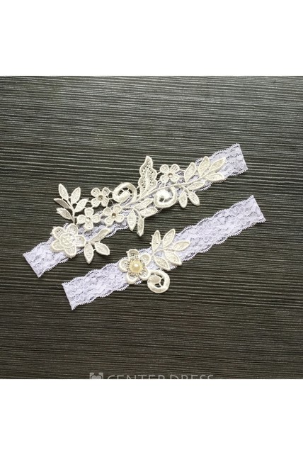 65383703e Handmade Lace Applique Pearl Sexy Elastic Garter Belt Within Within 16- 23inch - UCenter Dress