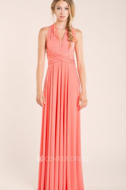 45c6445aab Floor-length Jersey Satin Dress - UCenter Dress