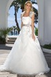 Long Strapless Cape Floral Satin Wedding Dress With Ruching