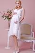 Chiffon  V Neck Knee Length Maternity Wedding Dress With Satin Bow