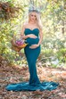 Mermaid Trumpet Sweep Brush Train Sleeveless Empire Maternity Dress