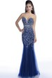 Sweetheart Sequined Mermaid Sleeveless Prom Dress With Beaded Neck