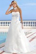 Maxi Strapless Floral Satin Wedding Dress With Ruching And Draping