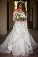 A Line Off-the-shoulder Lace Zipper Wedding Gown