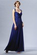 Sleeveless Taffeta Gown With Crisscross Ruching And Keyhole Back
