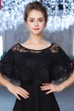 Bridal Black Shawl Summer Thin Lace Open Shawl