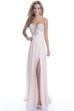 Side Slit A-Line Chiffon Sweetheart Prom Dress With Crystal Bodice