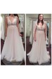 A Line Jewel Lace Tulle Button Zipper Wedding Dress