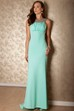 Scoop Neck Ruched Sleeveless Chiffon Prom Dress