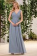 Sleeveless A-Line Chiffon Bridesmaid Dress With Pleats And Low V-Back