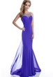 Mermaid Chiffon Sleeveless Bateau Neck Prom Dress With Jeweled Back