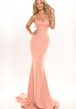 Mermaid Maxi Lace Sleeveless Spaghetti Jersey Prom Dress